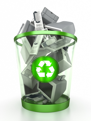 Electronics-recycling-bin