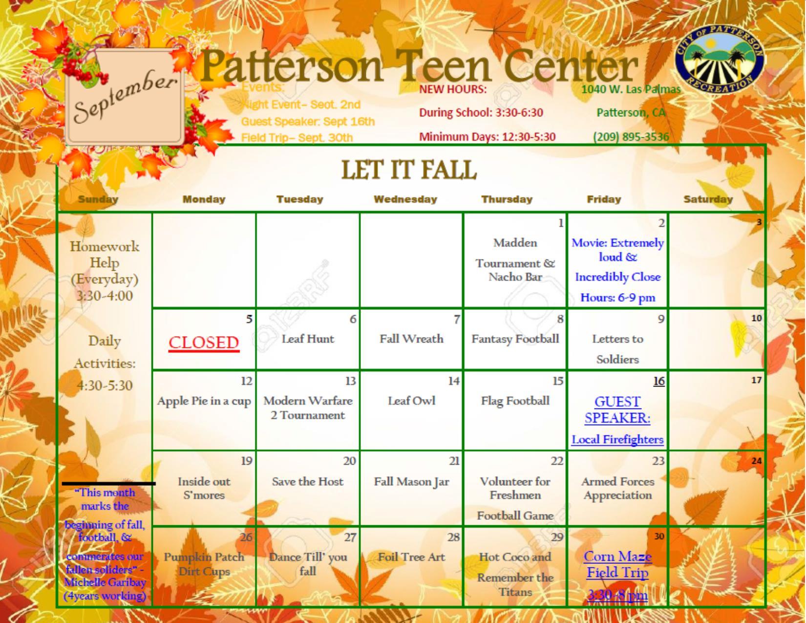 Official Website Teen Center 82