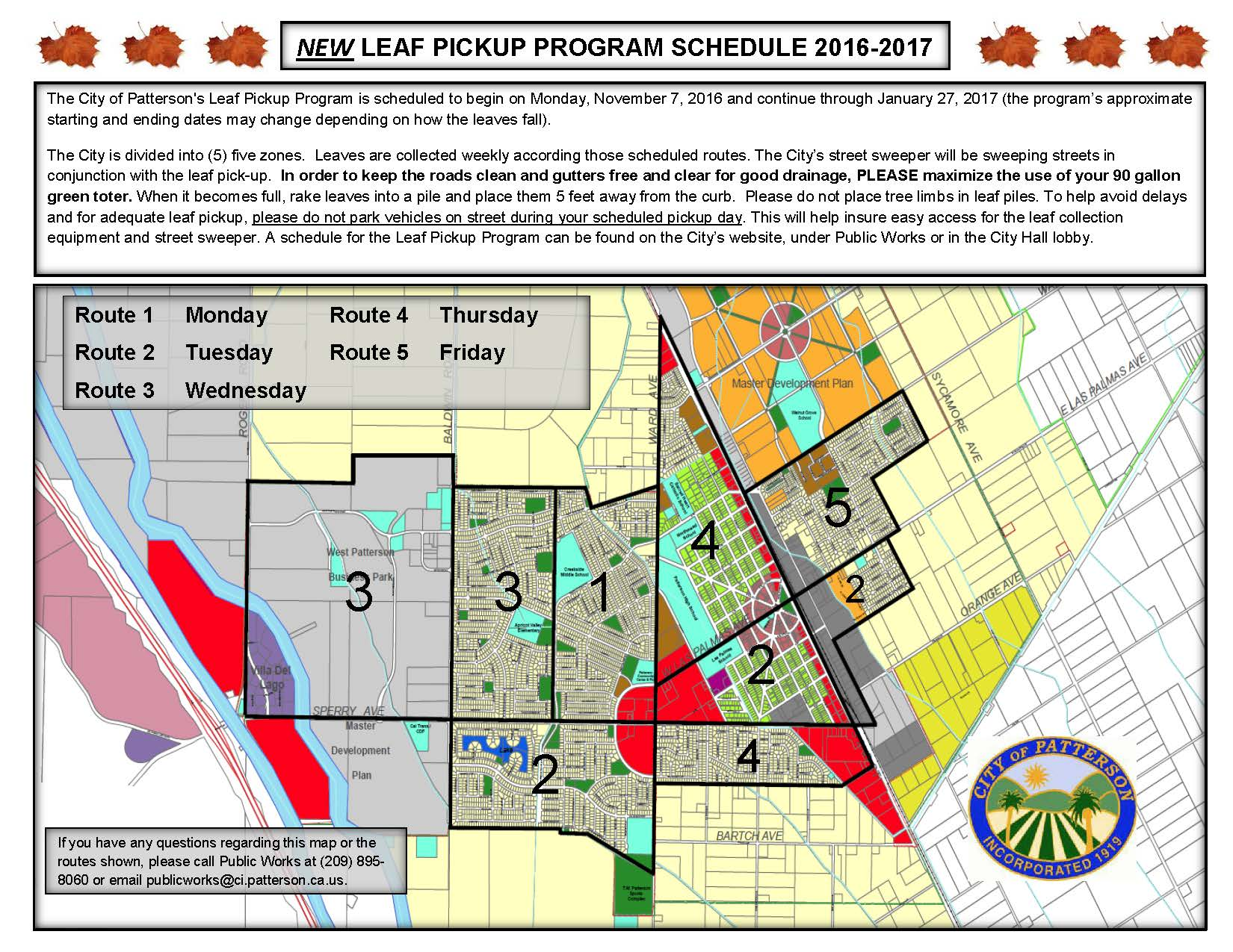 PW-F347 2016 Leaf Pickup Schedule