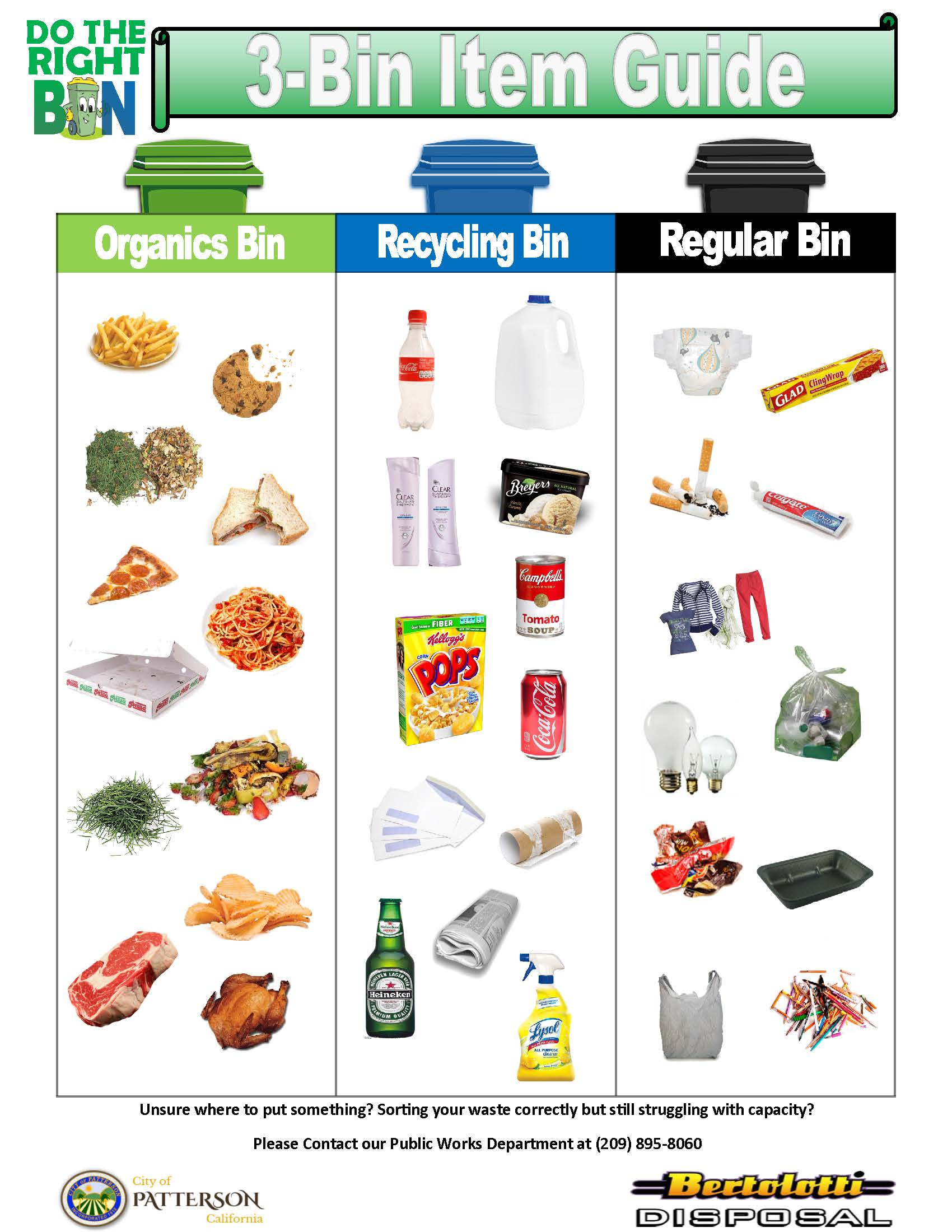 3-Bin Recycle Poster
