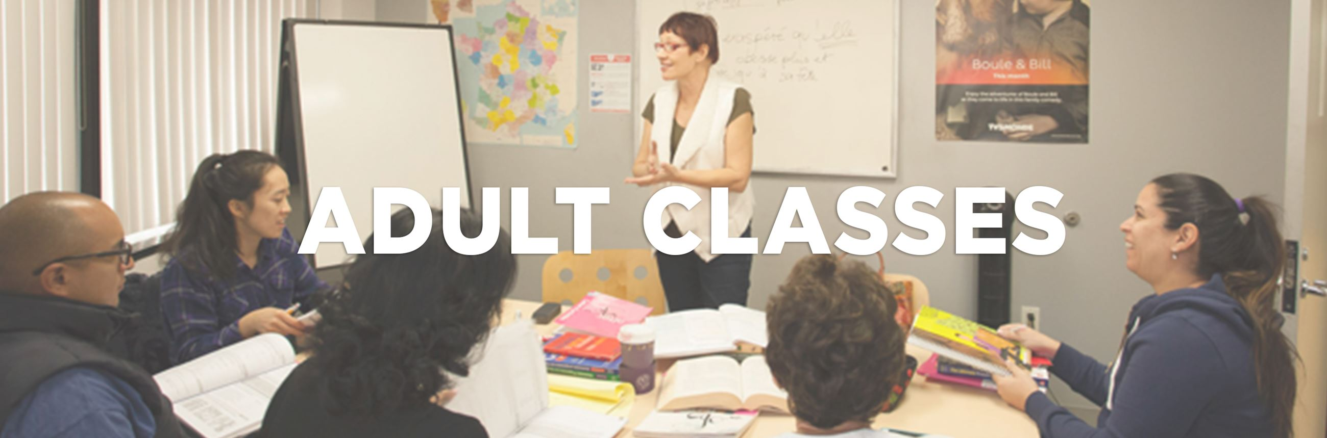 Adult Classes Banner