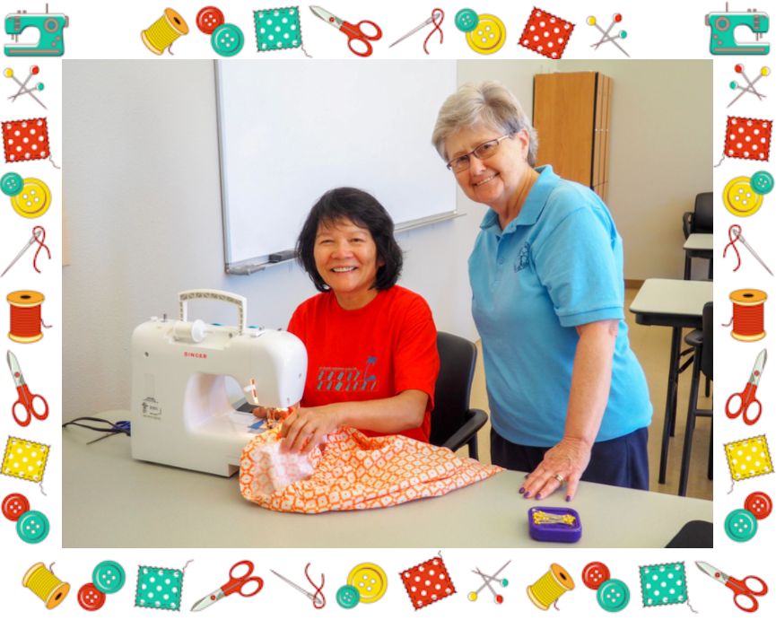 Two Women in a Sewing Class