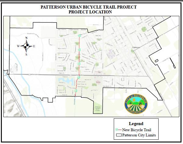 Patterson Urban Bicycle Trail Location Map