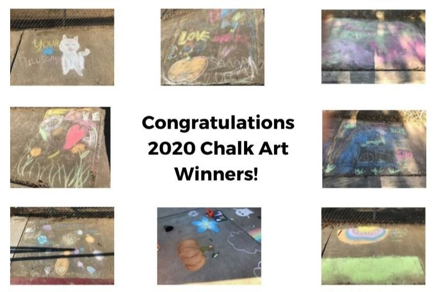2020 Chalk Art Winners