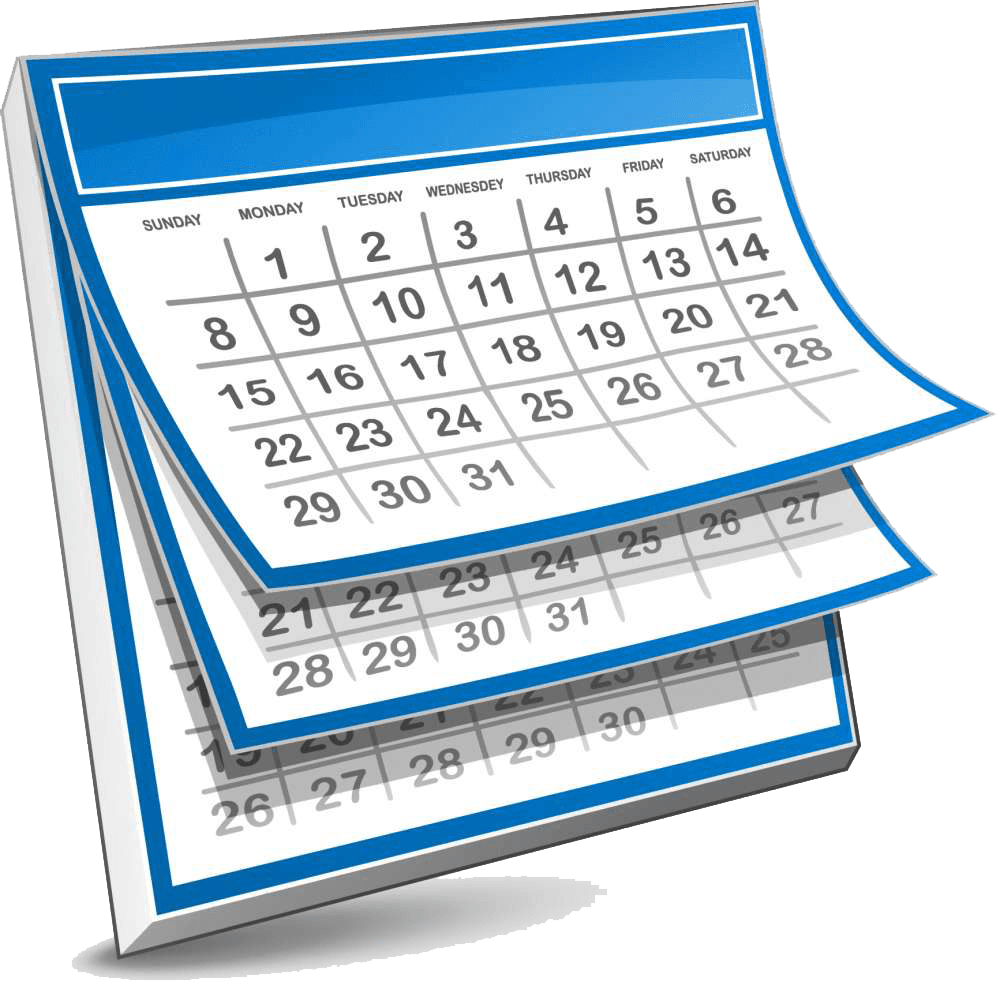 Monthly Calendar Clipart